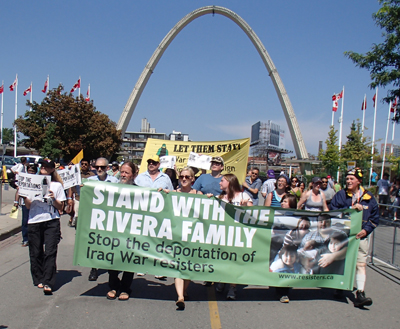 War Resisters Support Campaign enters the CNE on Labour Day